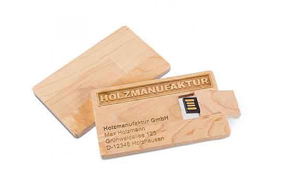 USB Card Holz