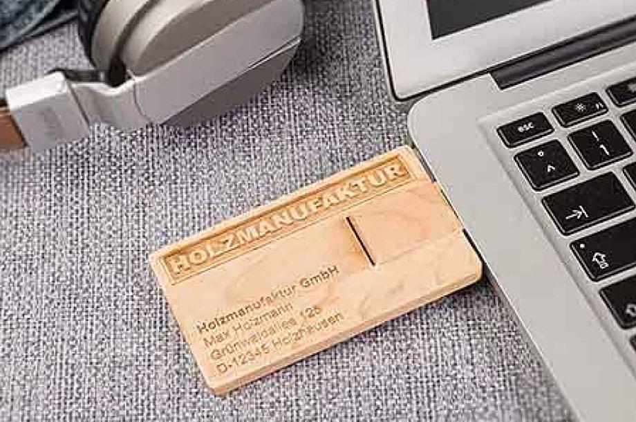 USB Card Holz