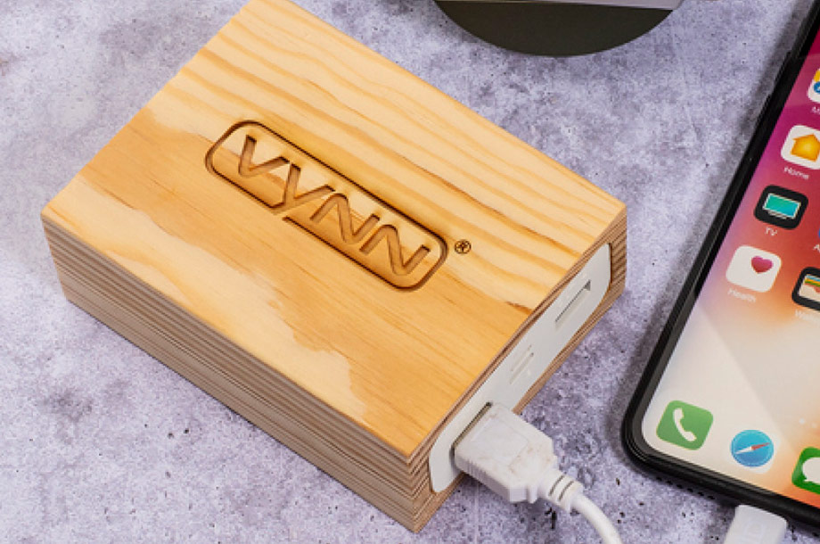 Holz Powerbank Timber Titan