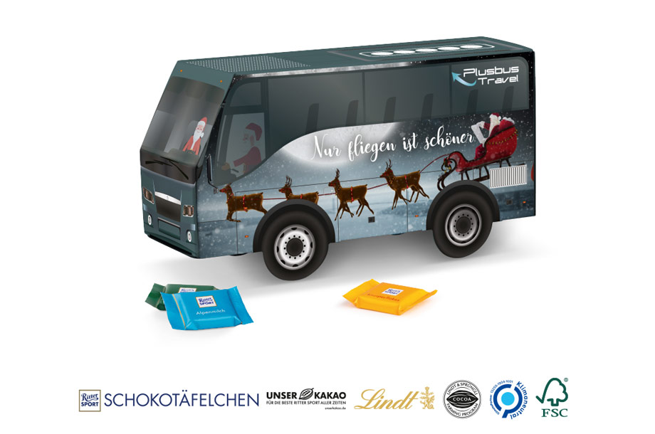 LKW Transporte Bus Weihnachtspräsent