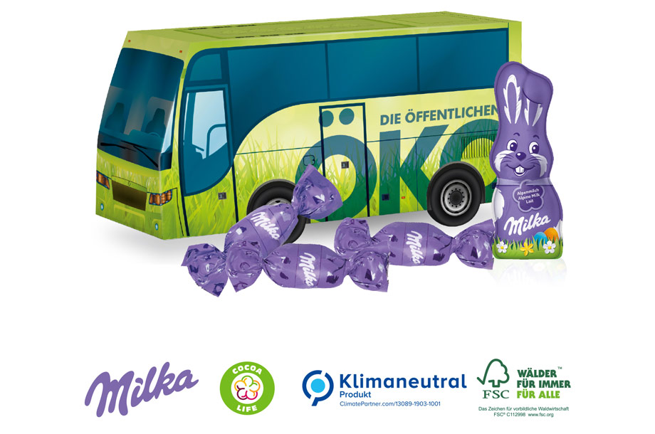 3d Präsent Bus Milka
