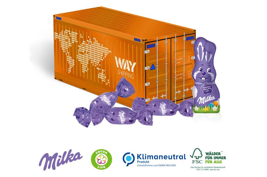 3D Präsent Container Milka