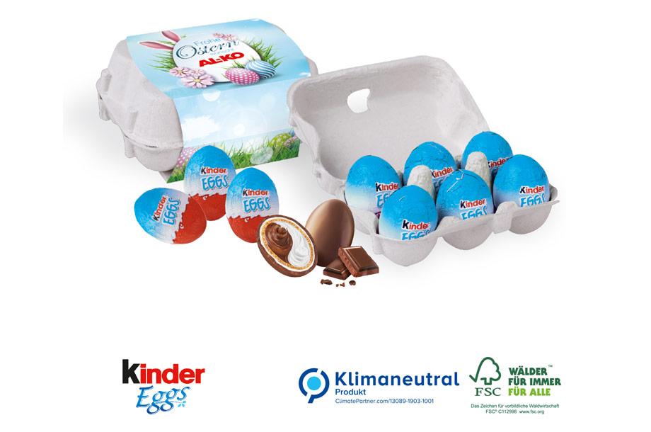 Kinder Eggs - Schoko-Eier 6er-Set, 60g, Klimaneutral, FSC®