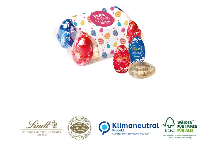 Lindt Mini-Eierpackung, 30g, Klimaneutral, FSC®