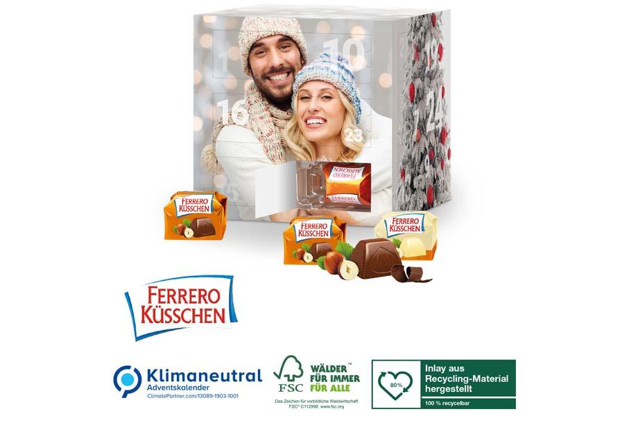 Adventskalender Cube Ferrero Küsschen, Klimaneutral, FSC®