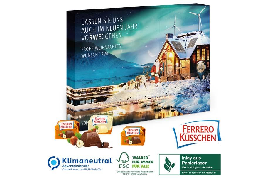 Ferrero Küsschen Adventskalender, Klimaneutral, FSC®
