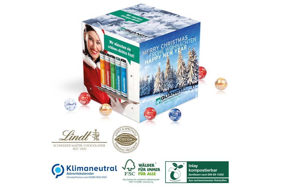 Lindt - Adventskalender Cube, Klimaneutral, FSC®