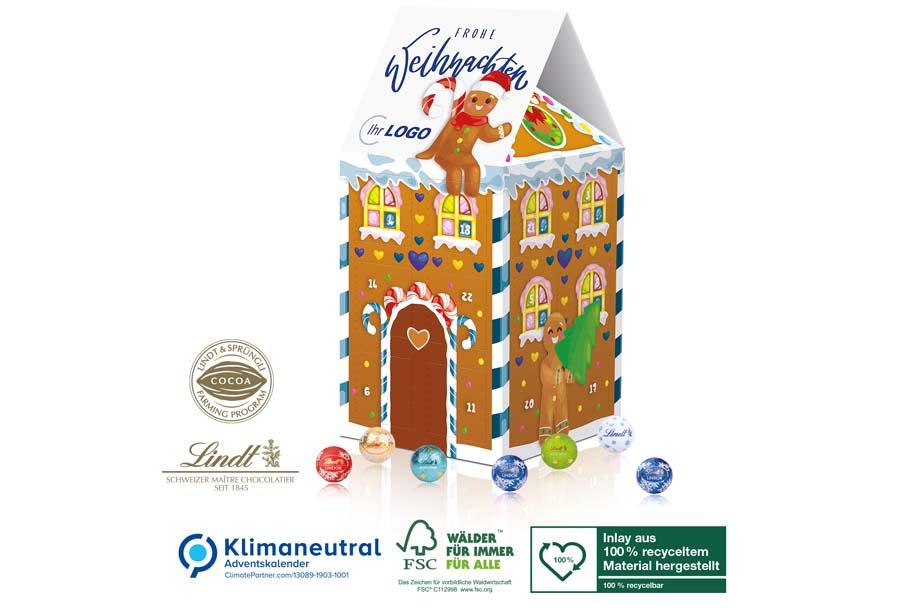 Lindt - Adventskalender-Haus XL, Klimaneutral, FSC®