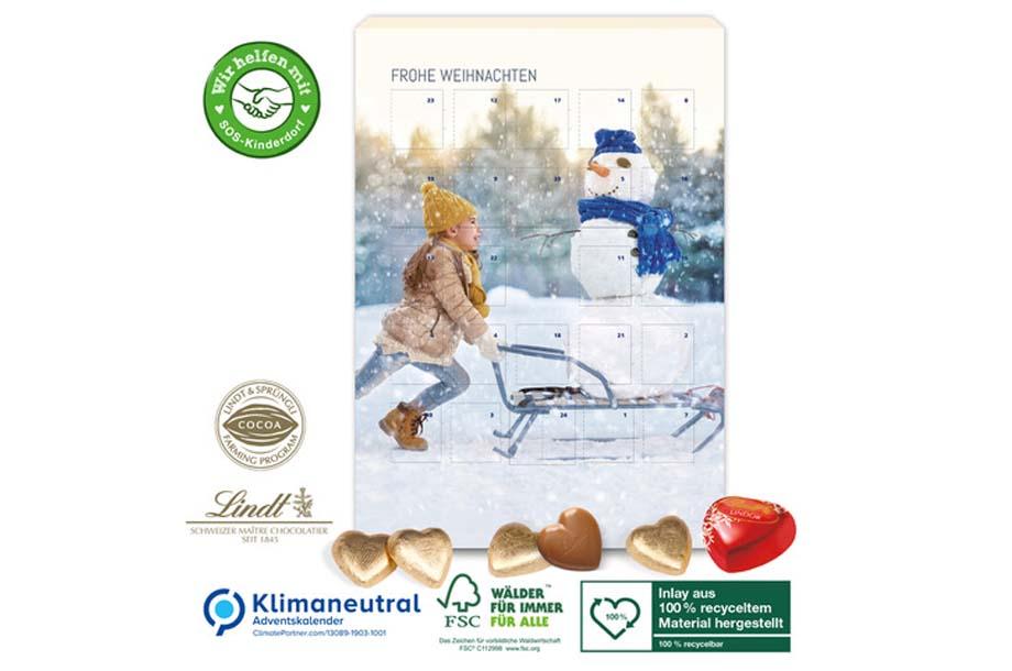 """Lindt-Adventskalender """"Schokoladen-Herzen"""