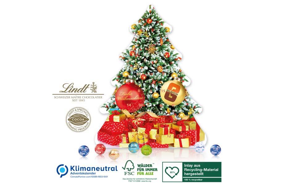 Lindt - Adventskalender Weihnachtsbaum, Klimaneutral, FSC®