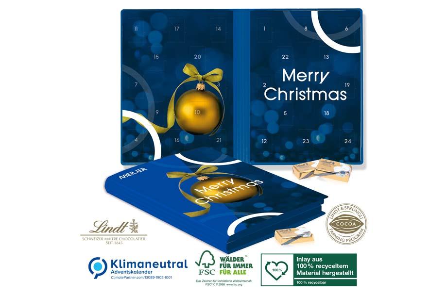 Lindt - Adventskalender Weihnachtsbuch Exklusiv mit Schokotäfelchen