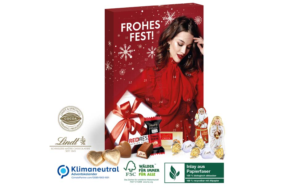 Lindt Premium-Selection Adventskalender, Klimaneutral, FSC®,