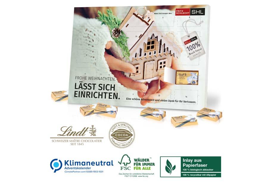 Lindt-Tisch-Adventskalender Select Edition Organic