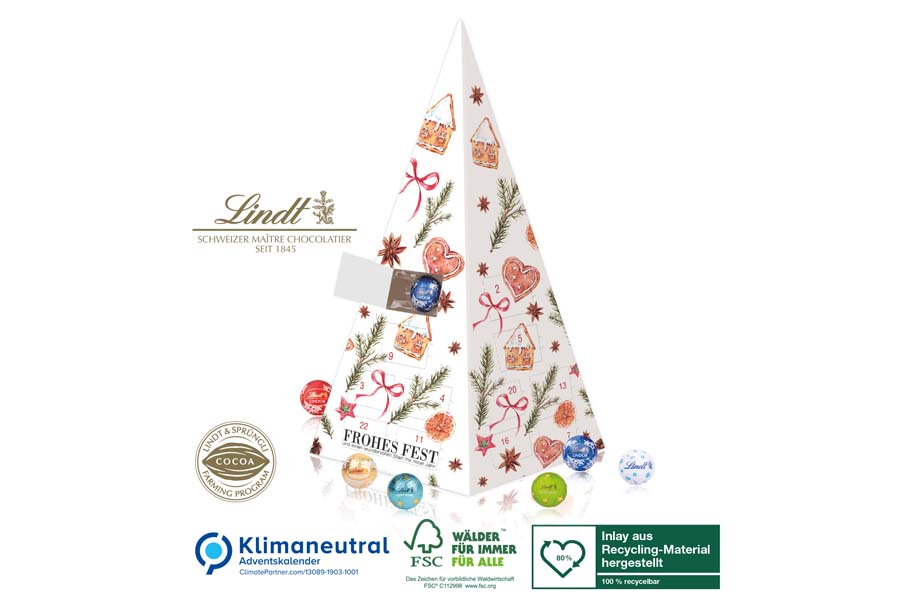 Lindt Weihnachtspyramide