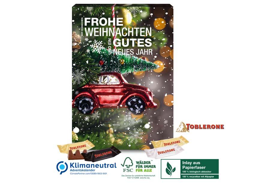 TOBLERONE-Adventskalender, Klimaneutral, FSC®