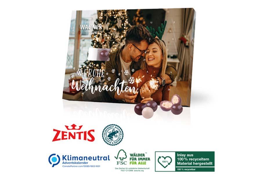 Tisch-Adventskalender Zentis Business, Klimaneutral, FSC®